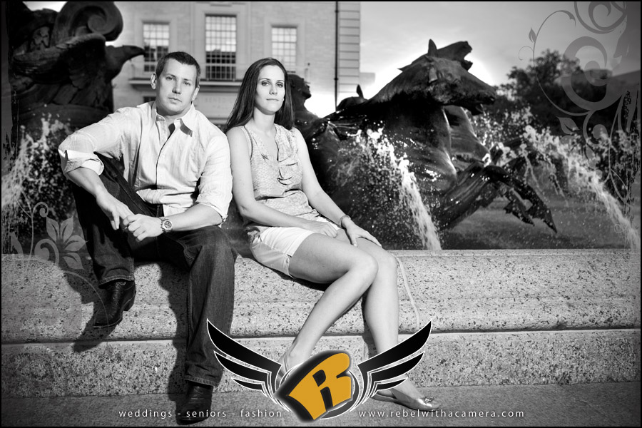 UT alumni engagement portraits in austin