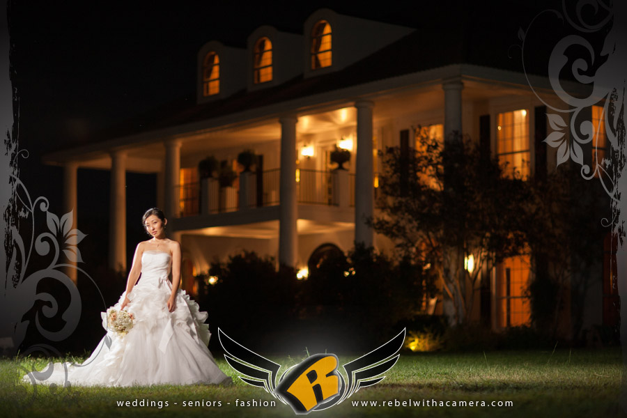 vera wang bridal portrait at the plantation house austin texas