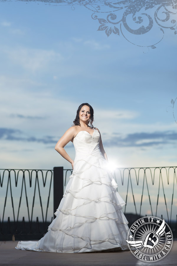 gorgeous bridal portraits at villa antonia