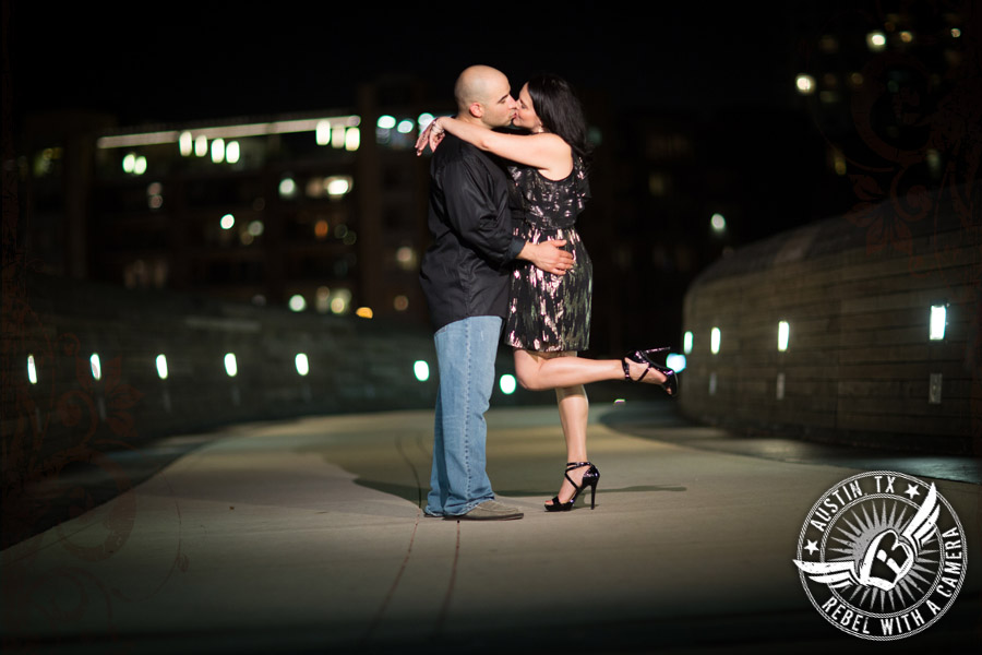 playful engagement photos at the long center austin