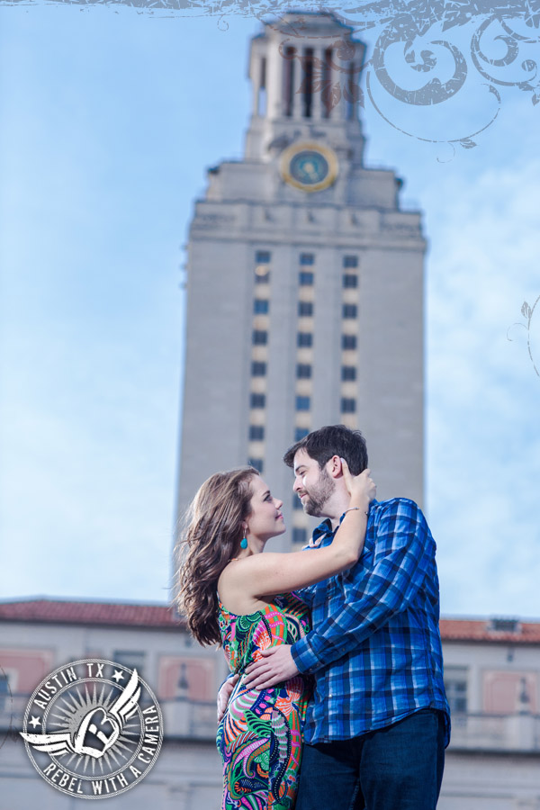 ut campus engagement pictures at the ut tower