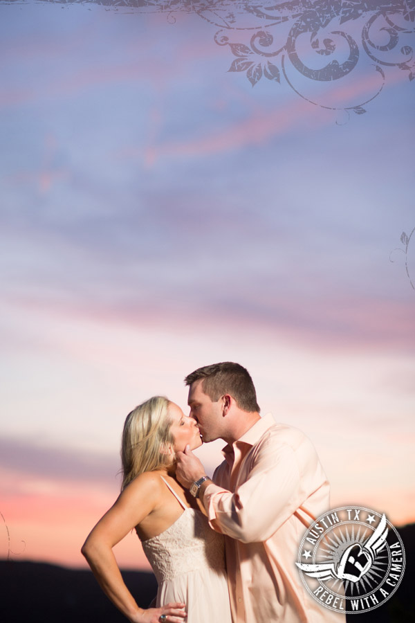 engagement pictures around austin with gorgeous sunset