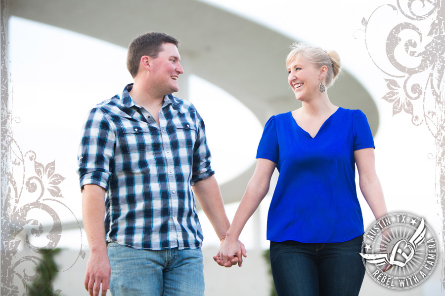 fun engagement pictures at the long center