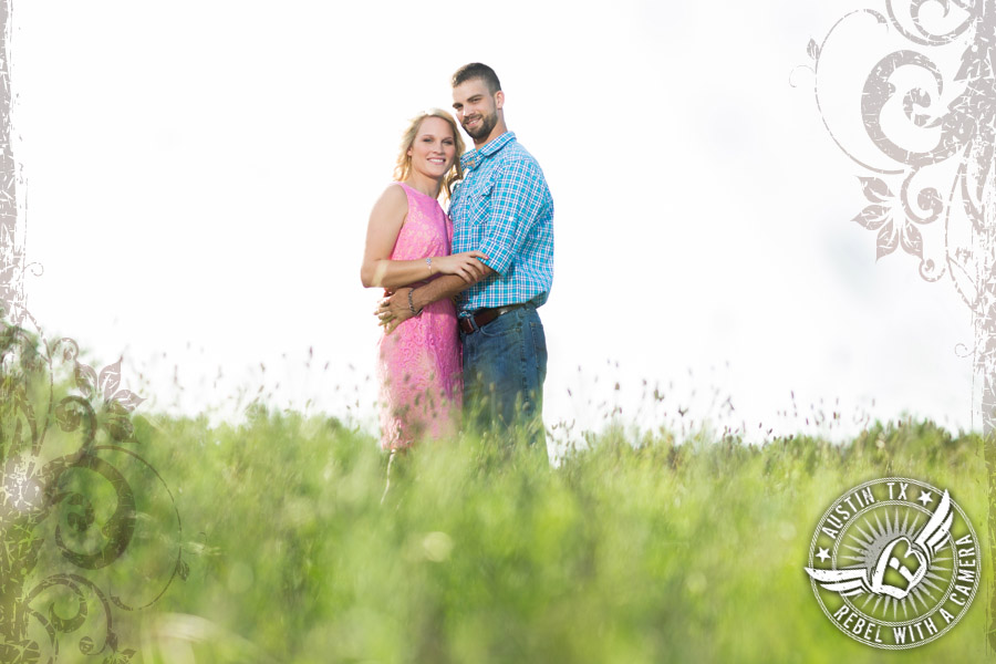 rustic country engagament pictures in austin