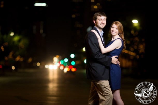 Dramatic Engagement pictures at the Texas State Capitol in Austin