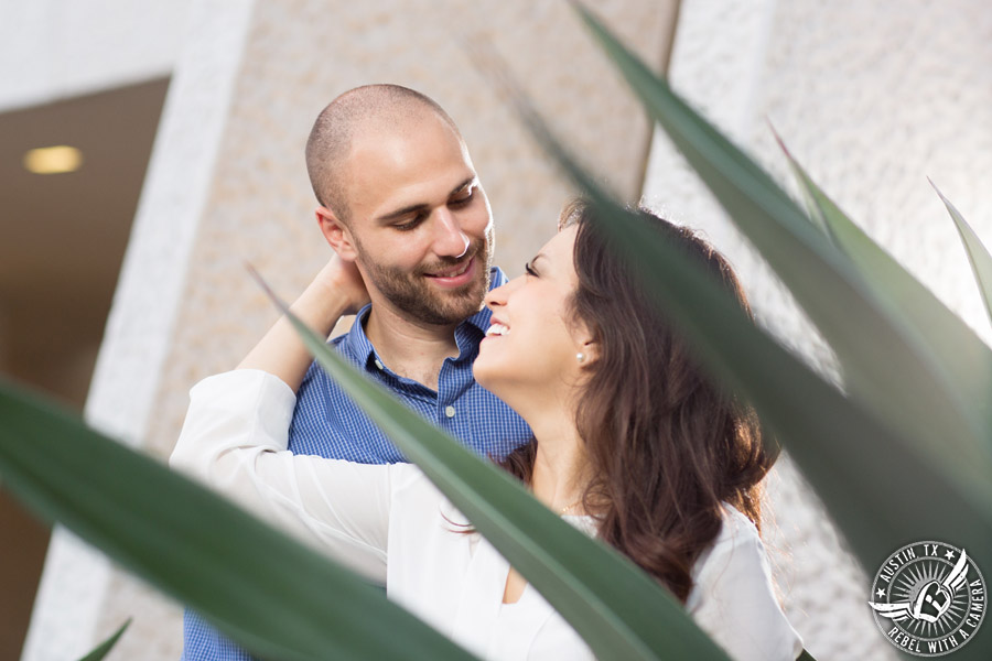 Austin Texas engagement portraits at the mexican american cultural center