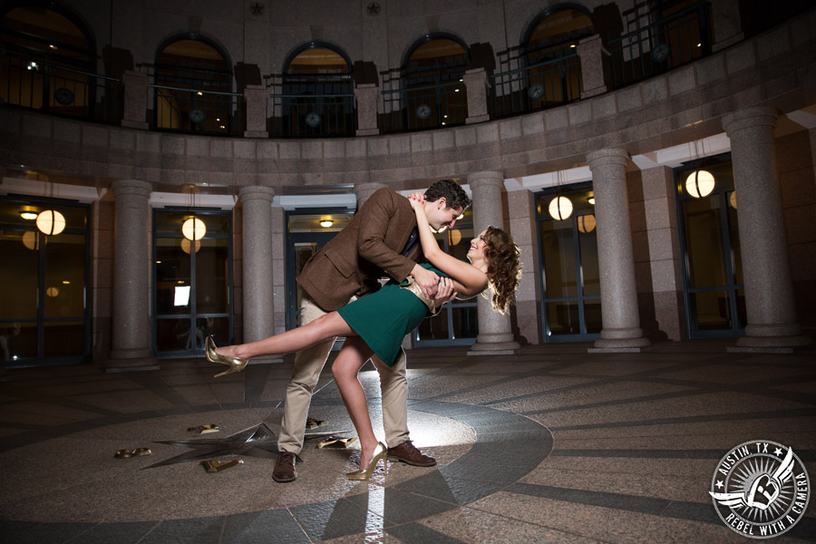 Engagement pictures at the Texas State Capitol in Austin