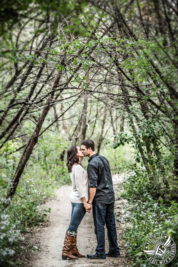 Greenbelt engagement session in Austin.