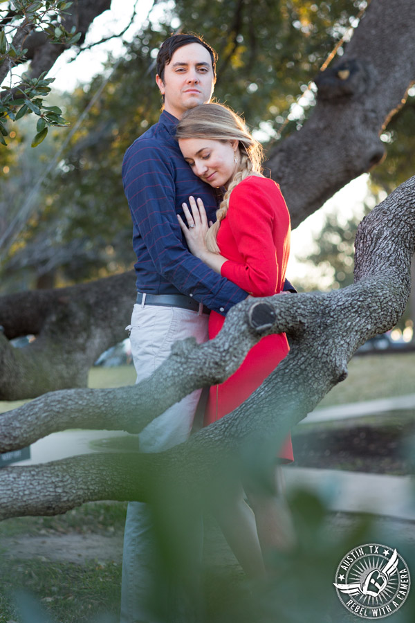 Austin engagement portraits at the Texas State Capitol