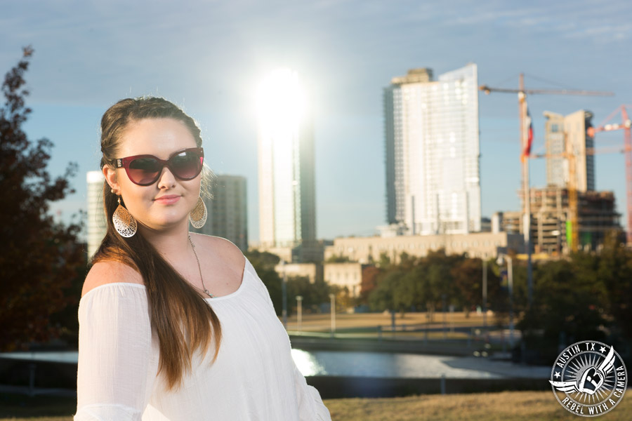 Senior portrait photographer in Austin