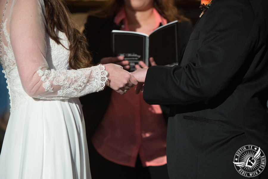Winter wedding pictures at Kindred Oaks