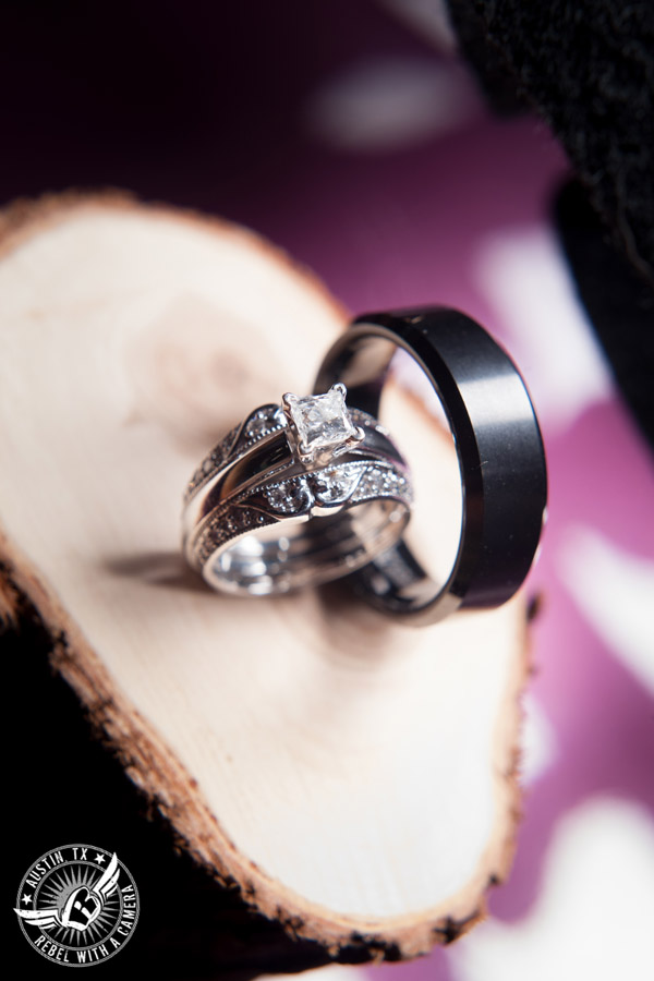 Sage Hall wedding photos at Texas Old Town wedding rings