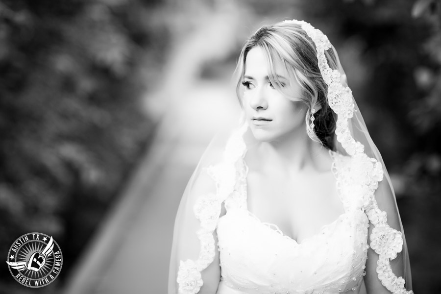 Berry Springs Park and Preserve bridal portrait in Georgetown, Texas, with hair and makeup by Kiss by Katie