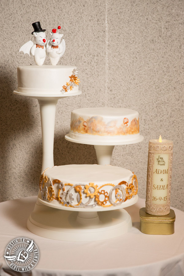 Austin wedding photographer at Olive and June - Final Fantasy wedding cake