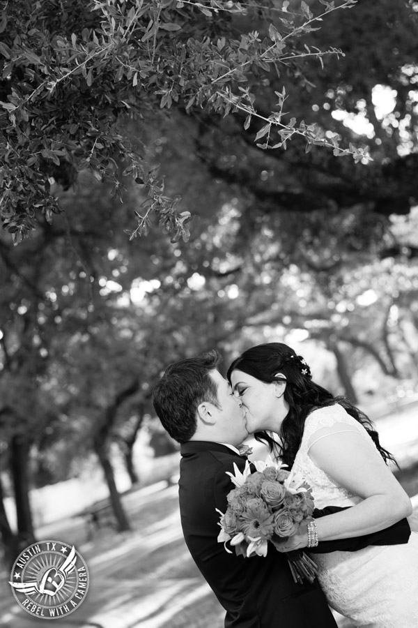 Austin Wedding Photos at Unity Church of the Hills - bouquet by Park Crest Floral - makeup and hair by FireMakeup Artistry