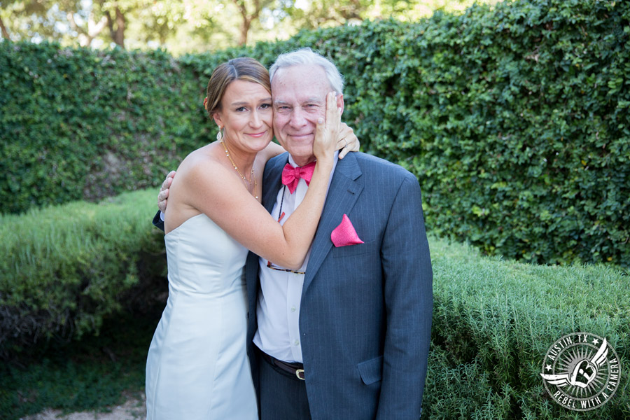 Hamilton Twelve wedding photos - bride's first look with father