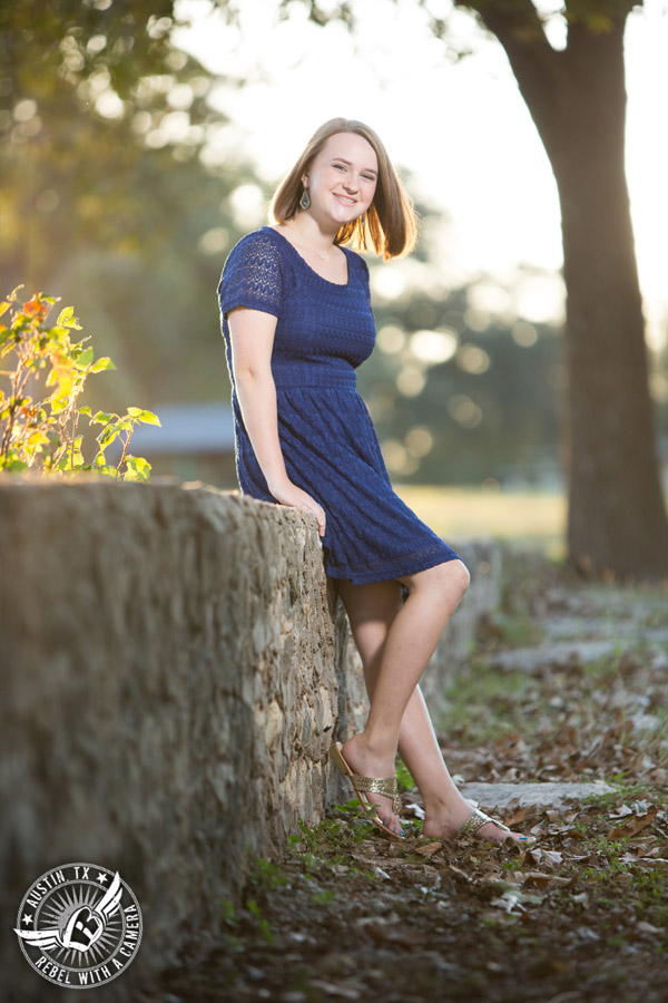 Senior portraits in Georgetown, Texas