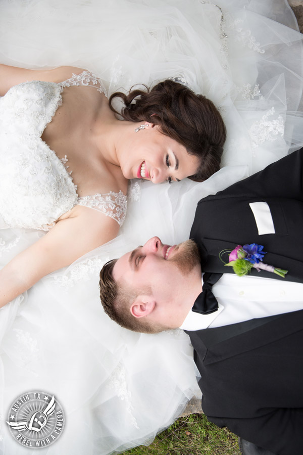 Lake Travis wedding pictures in Austin, Texas - hair and makeup Adore Makeup Boutique and Salon - boutonniere Visual Lyrics