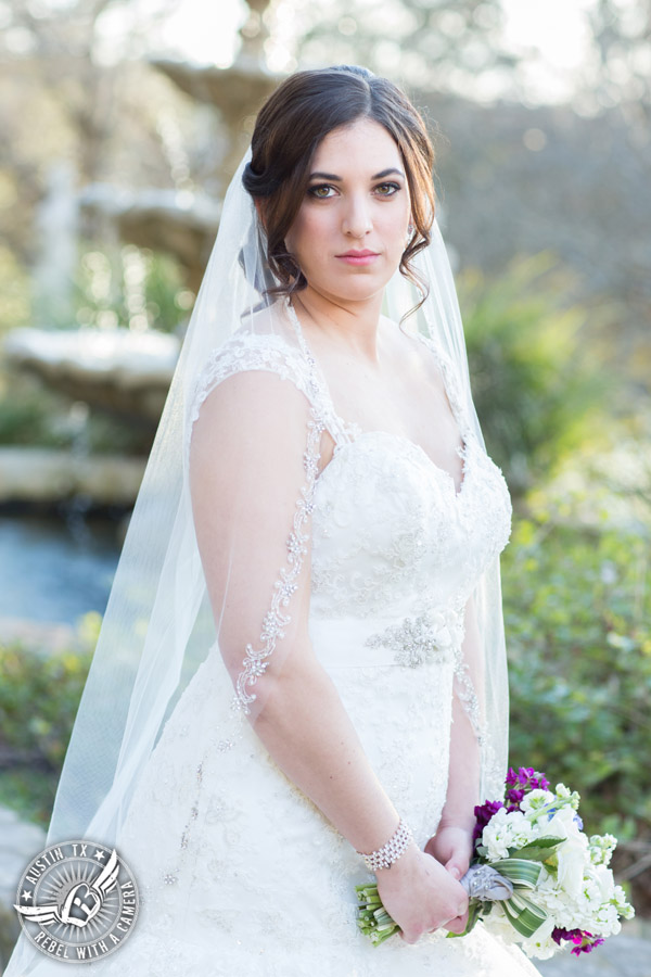 Lovely Lake Travis bridal portraits - hair and makeup from Adore Makeup Boutique and Salon - bouquet by Visual Lyrics
