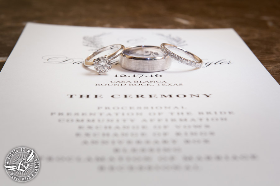Elegant Casa Blanca on Brushy Creek wedding photos - wedding rings