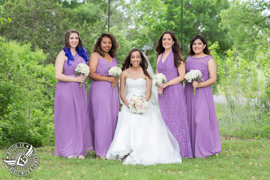 Lone Oak Barn wedding photos - bride and bridesmaids with bouquets from ParkCrest Floral Design