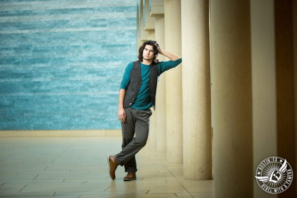 Senior Portraits at The Blanton Museum of Art on the UT Campus in Austin